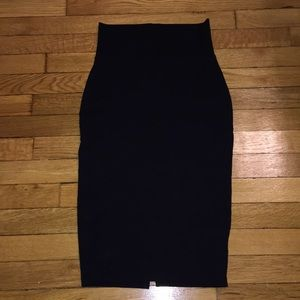 Black high-waisted fitted skirt Bebe XS